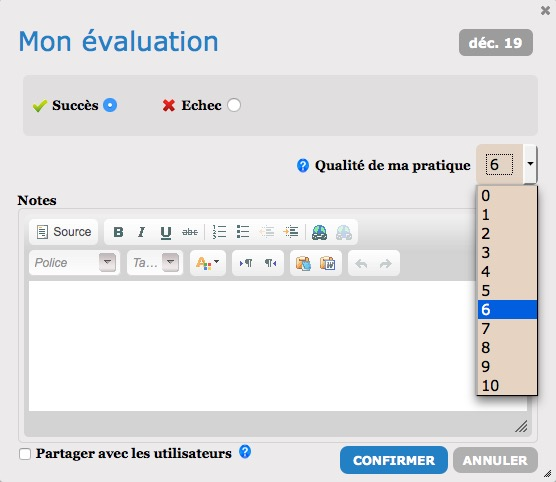 qualite pratique notation