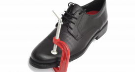 Chaussure avec serre-joint